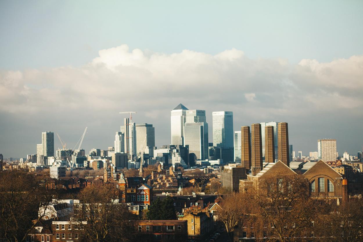 Canary Wharf panoramic photo by London based photographer
