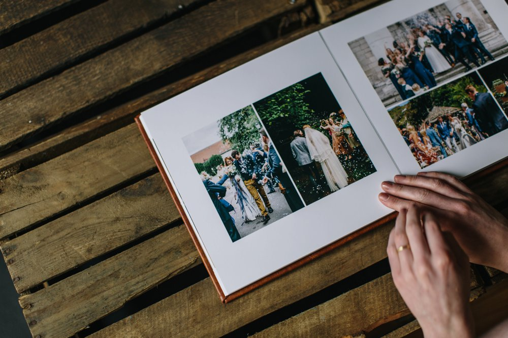 open page wedding album for photographers london