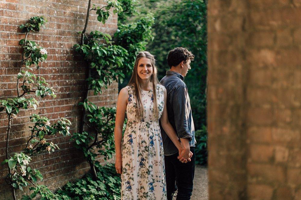 Engagement photo shoot at Hampstead Park