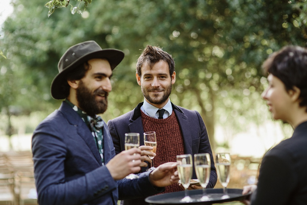 guests at garden wedding