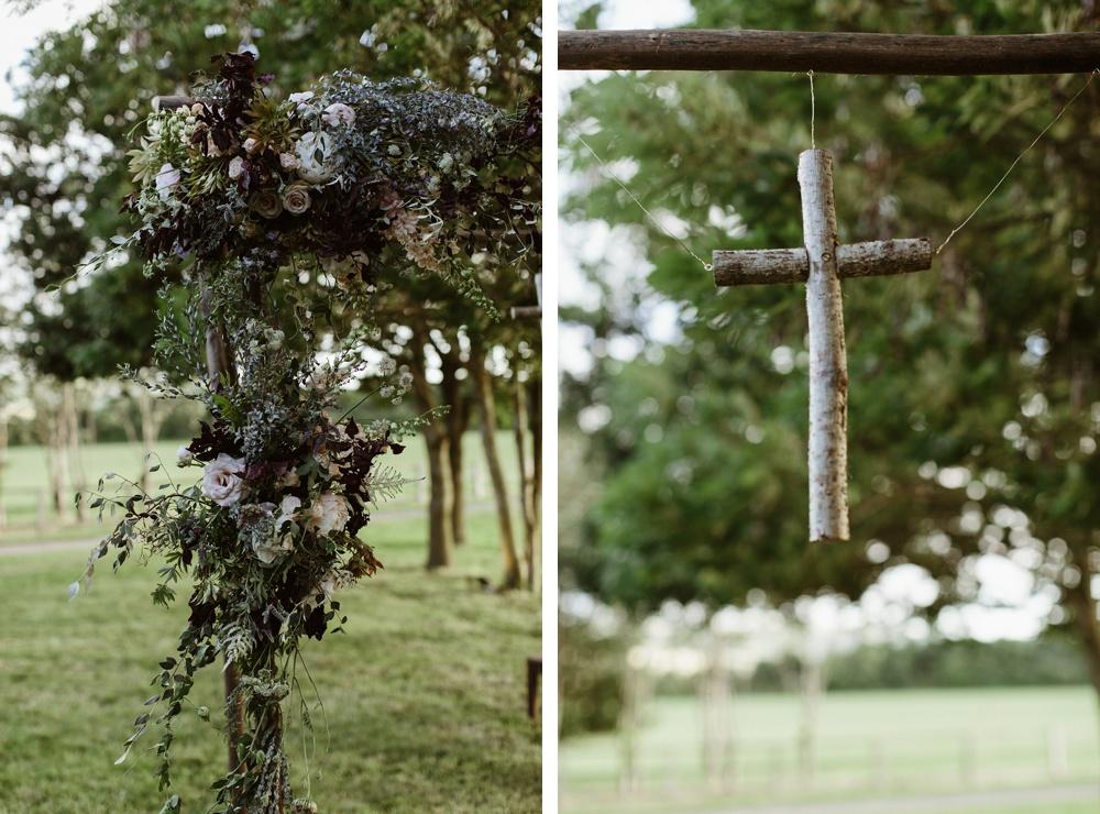 wedding details at garden wedding