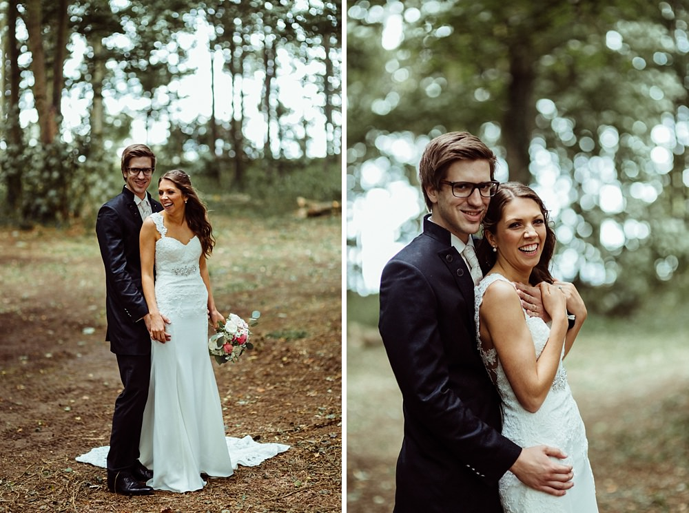 wedding photos in forest