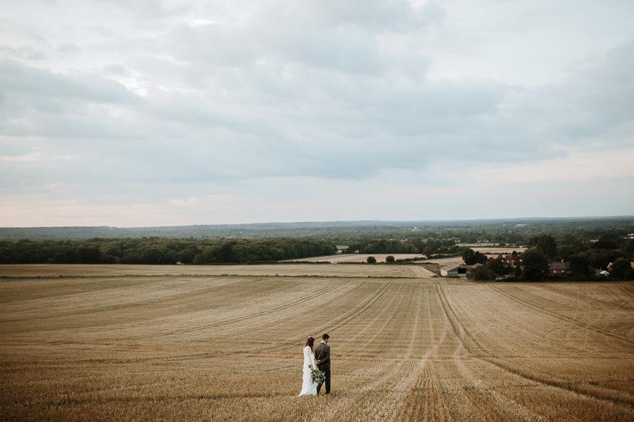 wedding portraits at Wanborough Great Barn Surrey