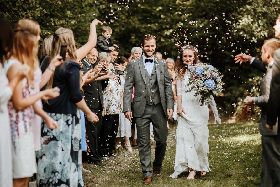 wedding confetti for forest wedding Surrey