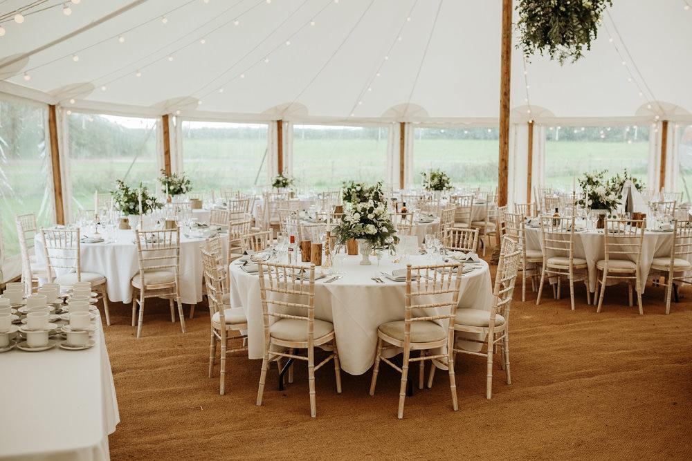 reception decor for marquee wedding dorset