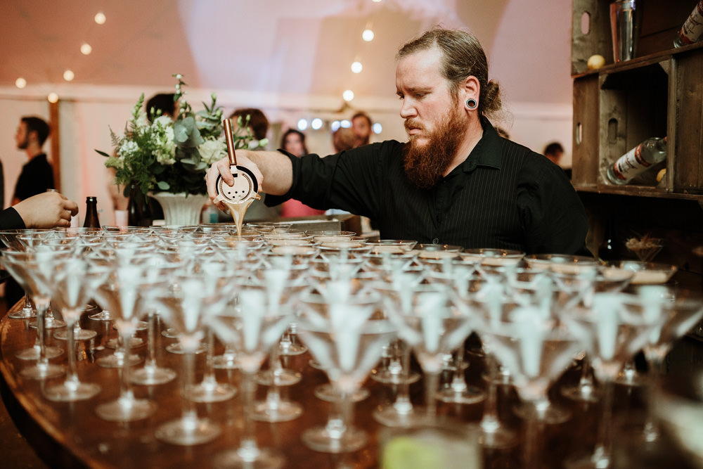 wedding reception cocktails