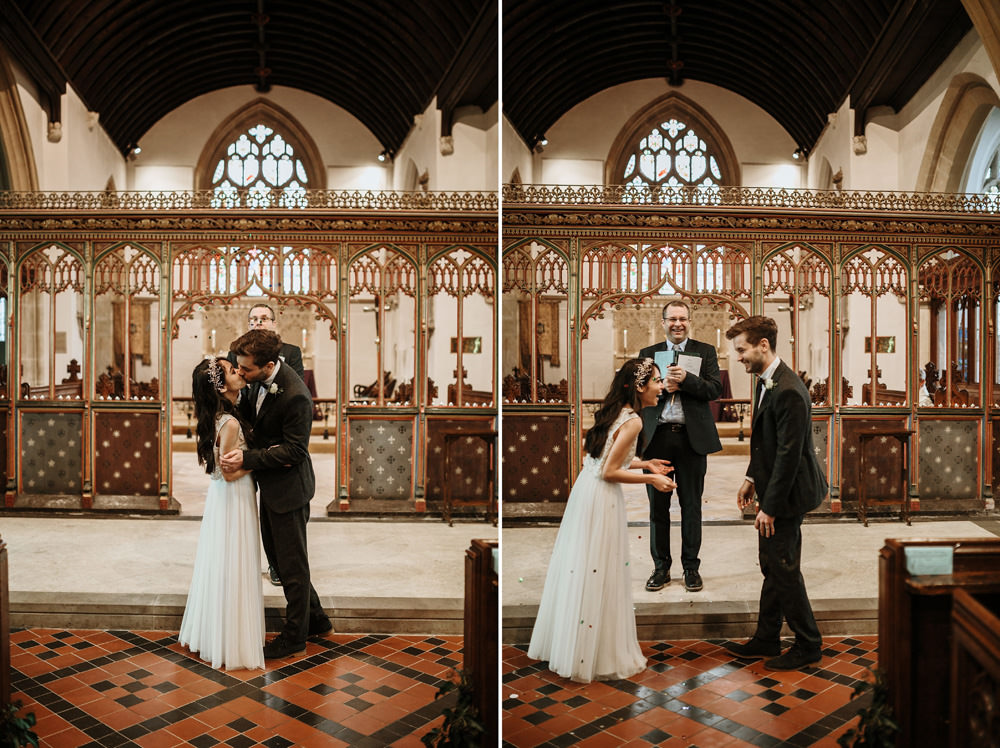 first kiss during Bristol wedding ceremony