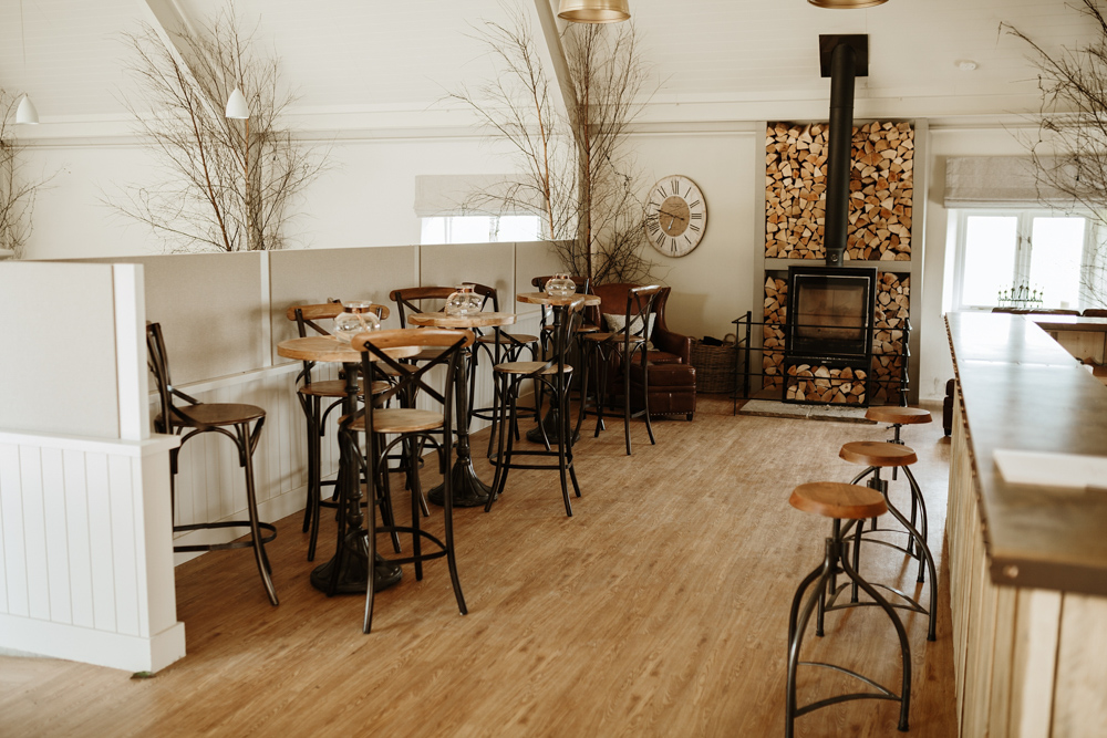 bar area at Lapstone Barn wedding venue Cotswolds