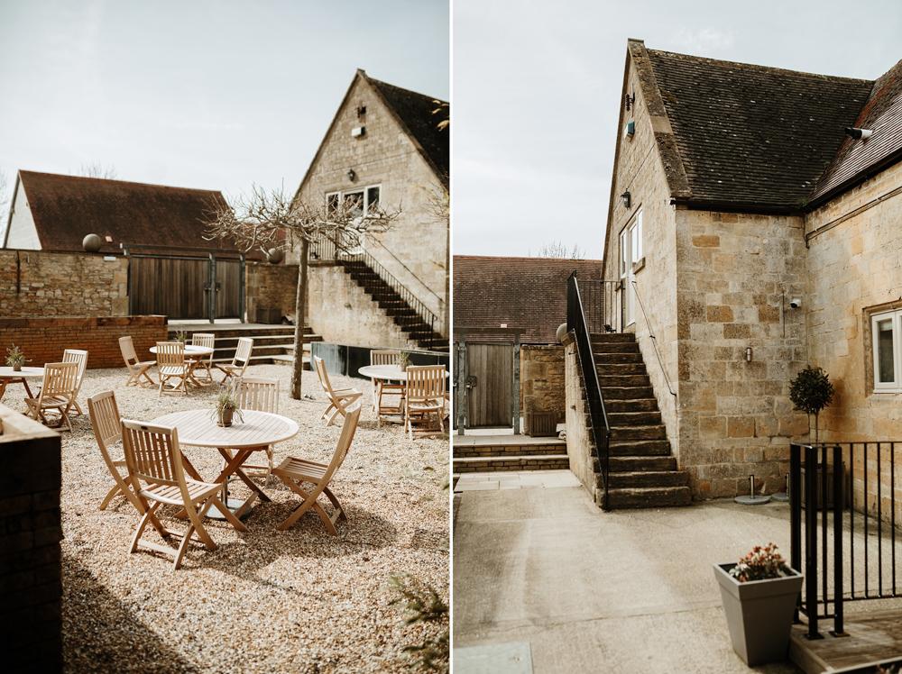 Garden details at Lapstone Barn wedding venue Cotswolds
