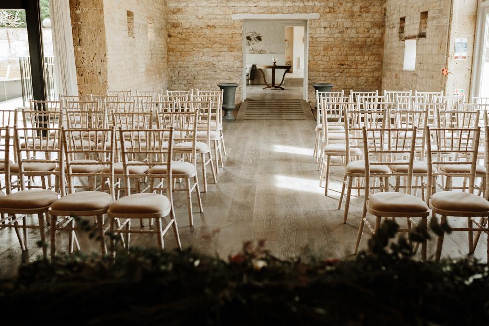 wedding ceremony for Lapstone Barn Venue