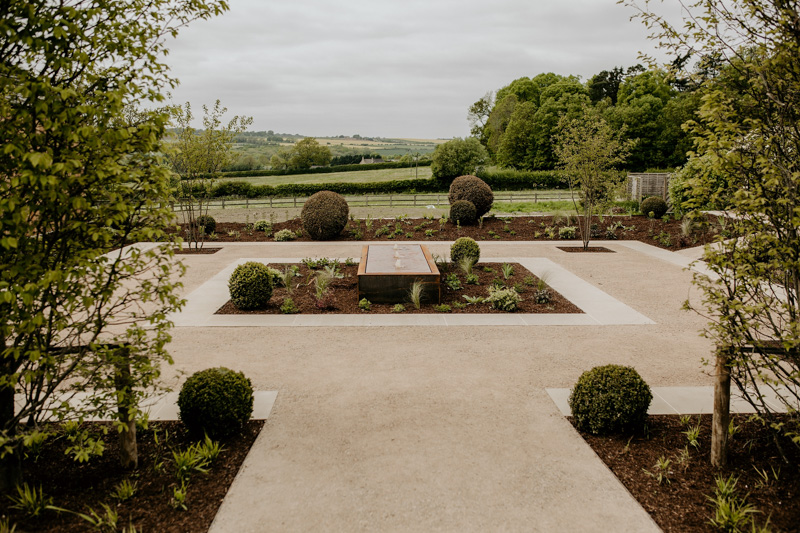 garden area outside Hyde House Barn