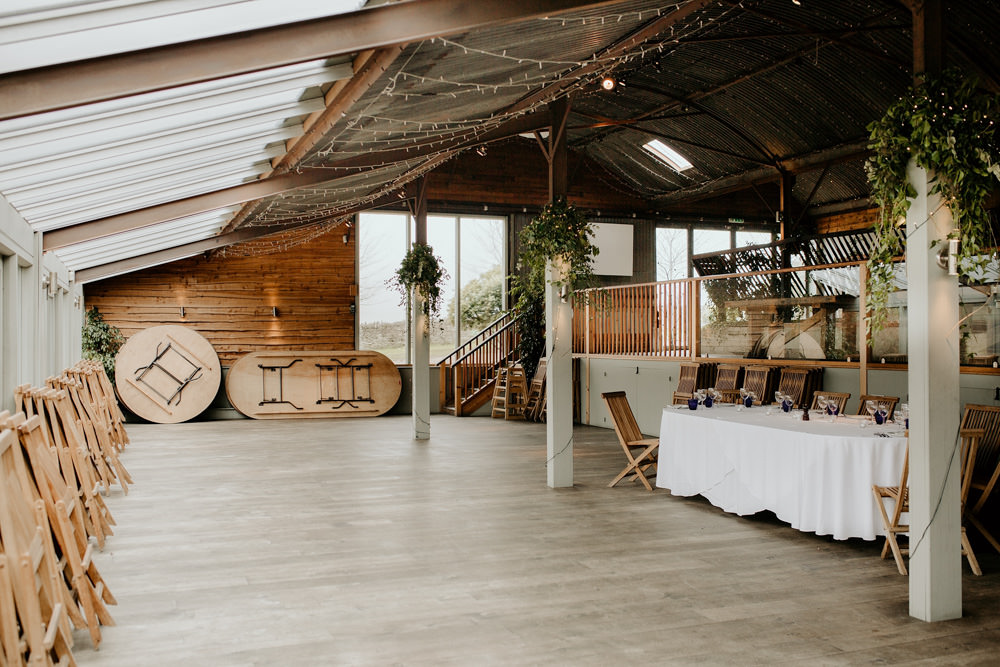 reception area at Cotswolds wedding venue by Cotswolds wedding photographers