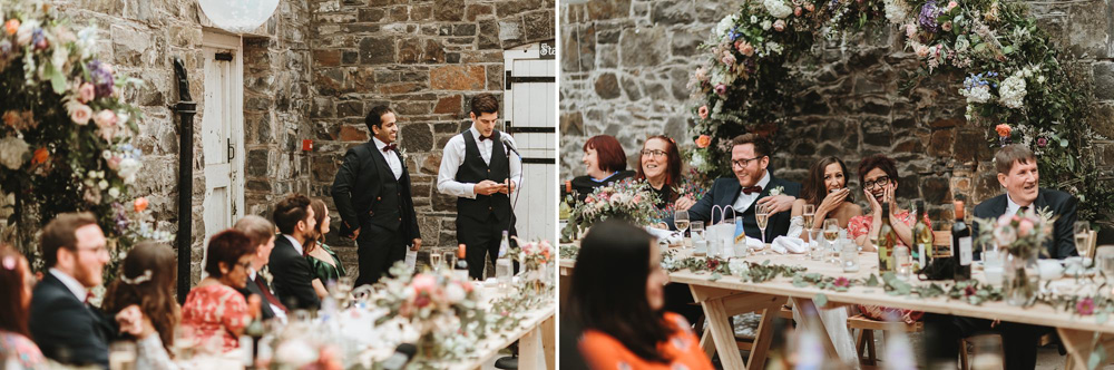 groomsmen speech at plas dinam country house wedding reception