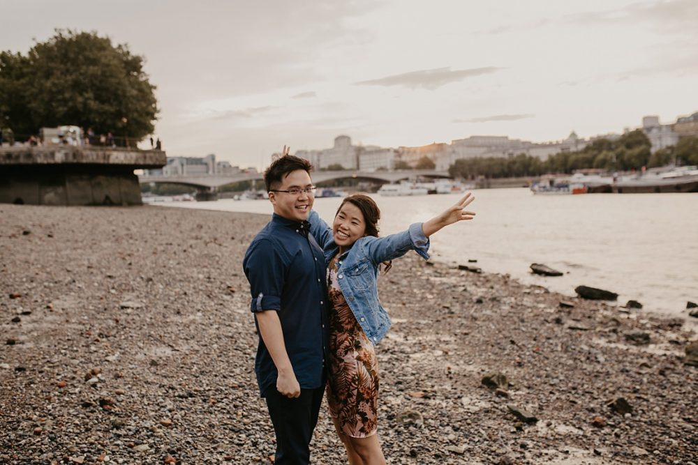southbank engagement shoot in London by Green Antlers photography