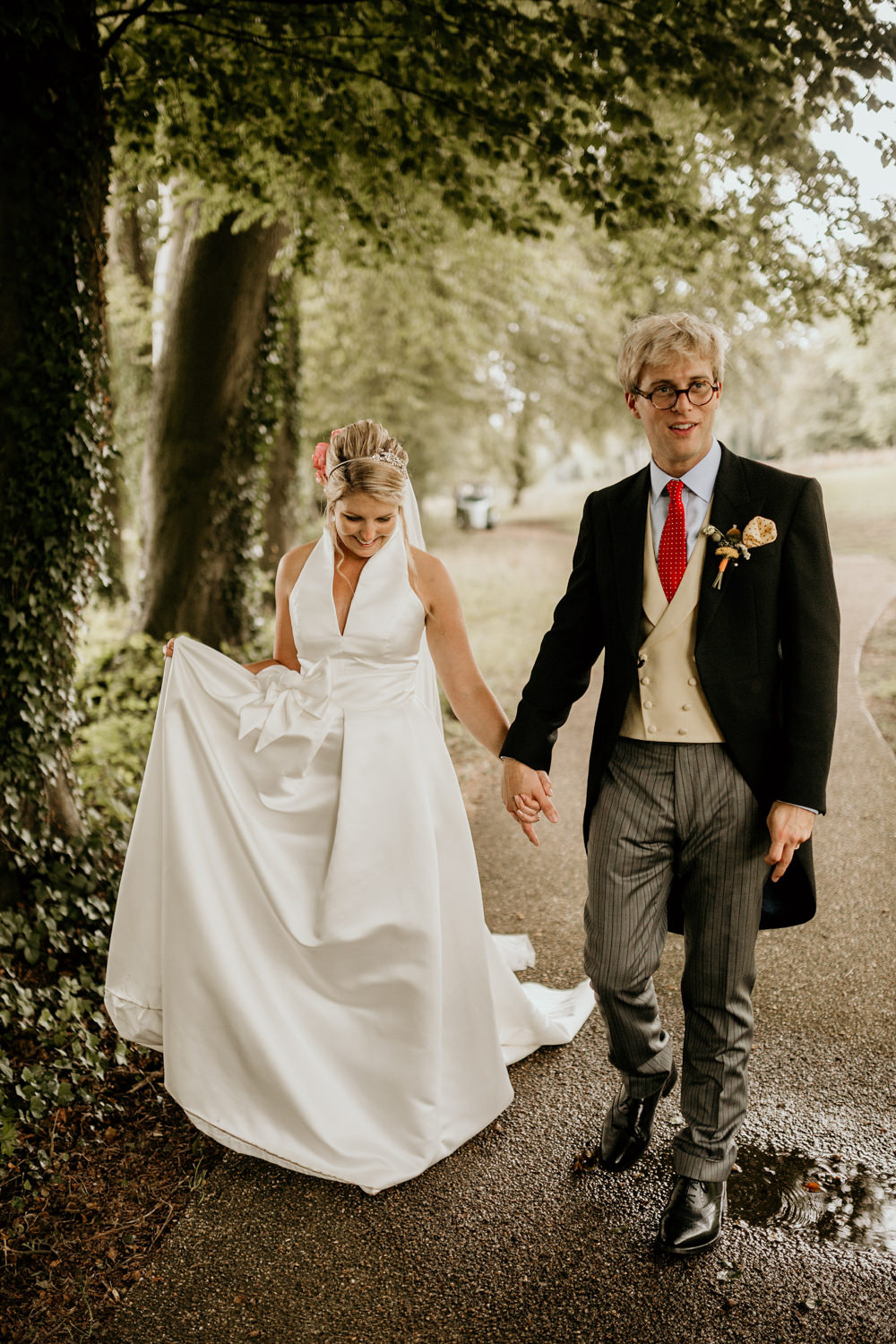 The Kennels Goodwood wedding portraits by wedding photographer Cotswolds