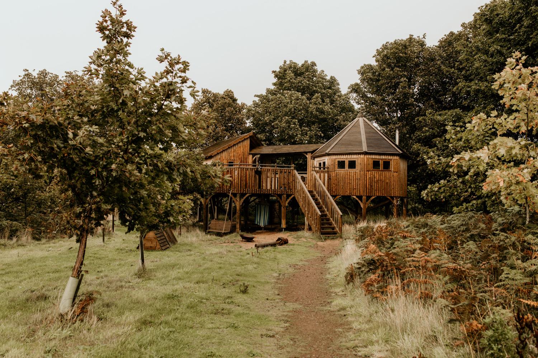 tree house at Harvest Moon Holidays Scotland