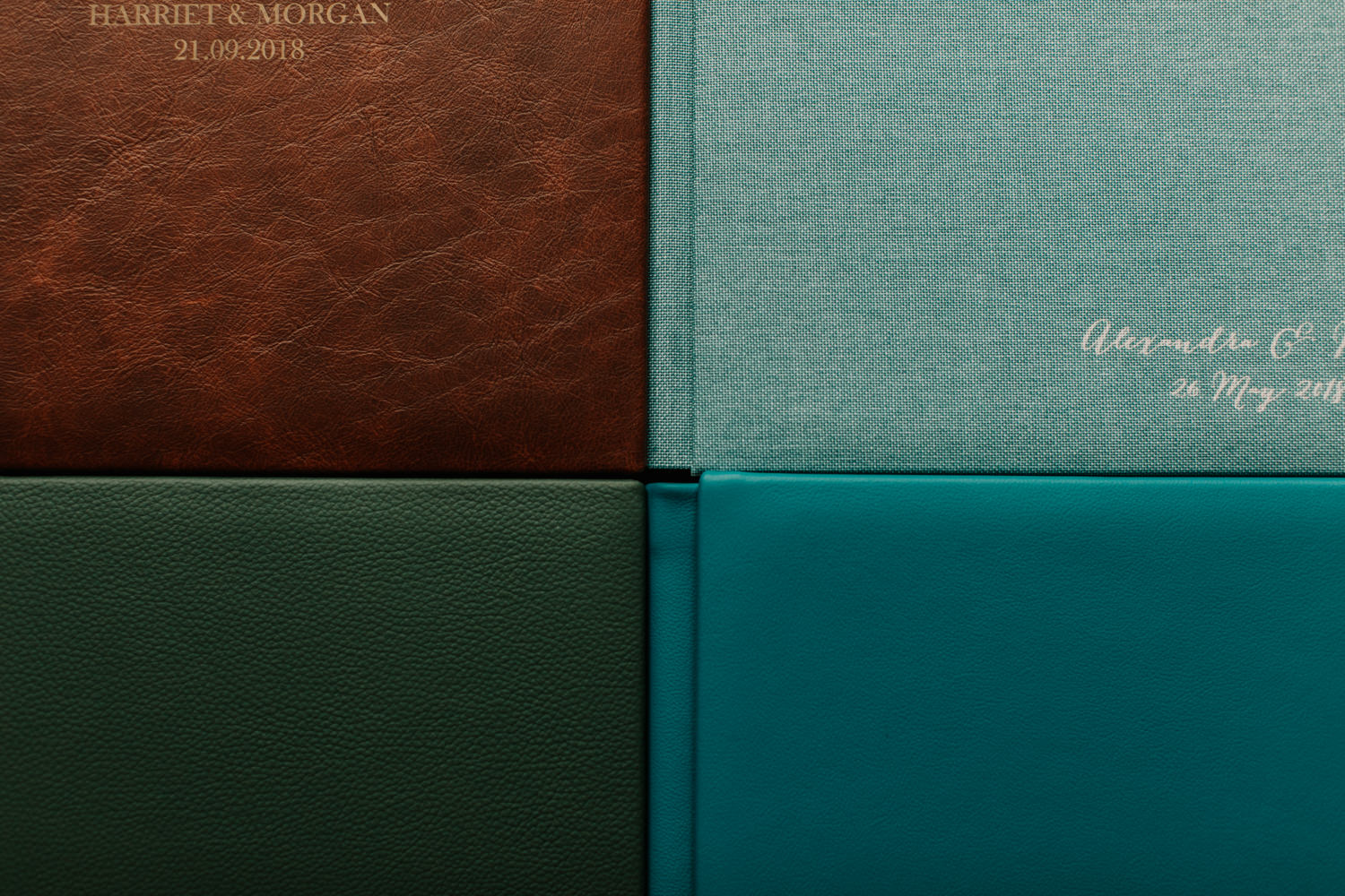 4 different types of wedding album samples