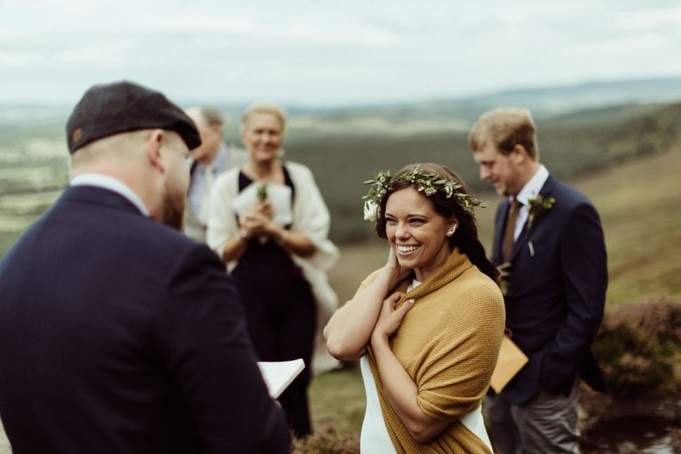 wedding vows during an outdoor wedding ceremony Northumberland