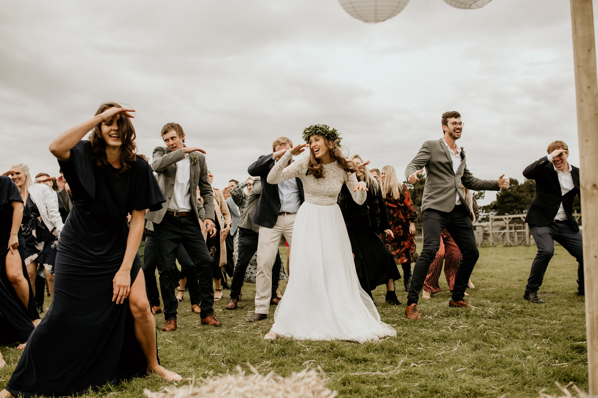 flash mob during a Scotland wedding