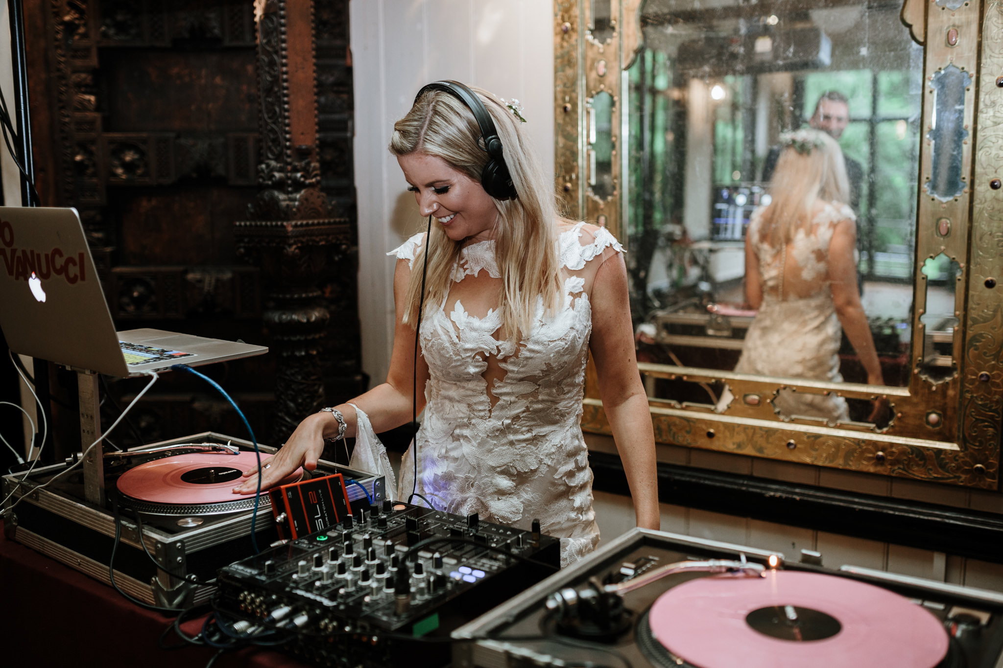 bride or groom DJ for wedding entertainment music