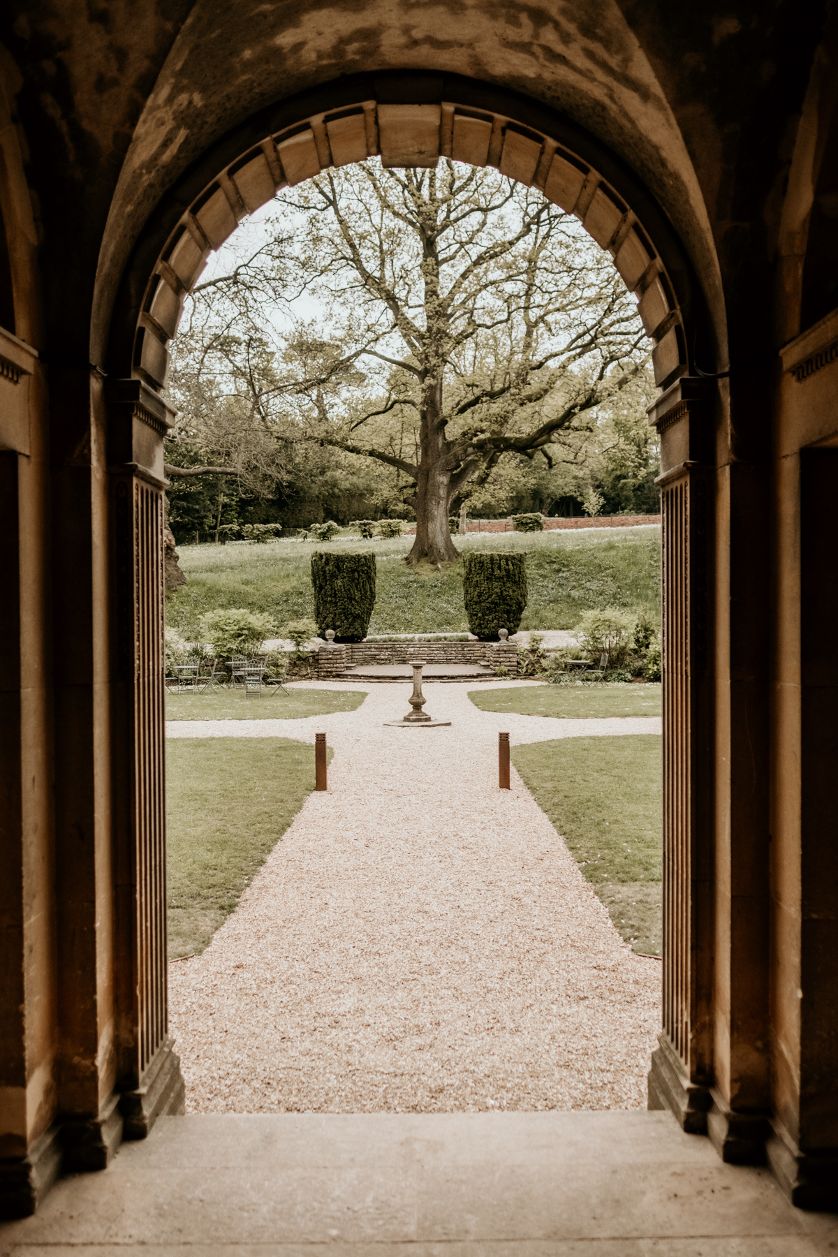 doorway and outdoor garden at Coombe Lodge Blagdon