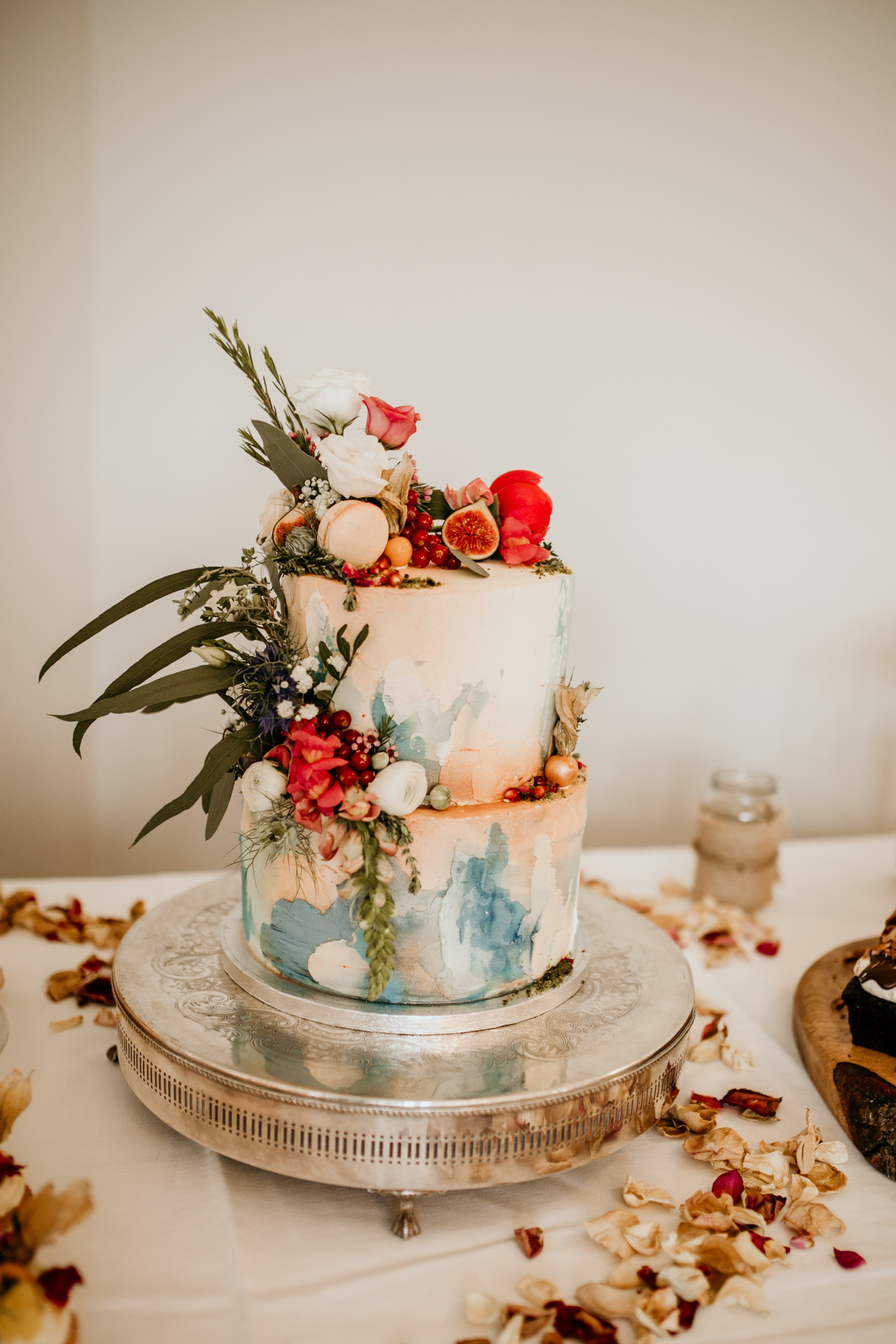 wedding cake during a Coombe Lodge Blagdon wedding reception