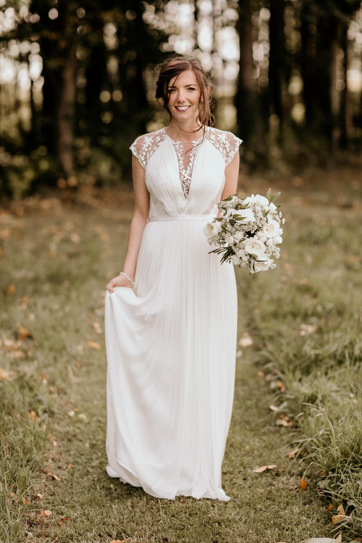 bride wearing a Catherine Deane wedding dress