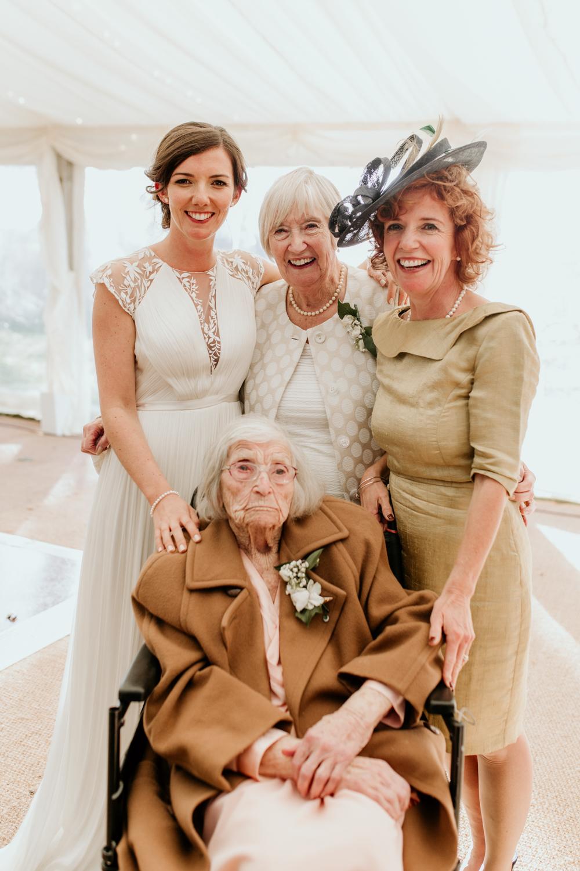 4 generations portrait during a Poulton wedding