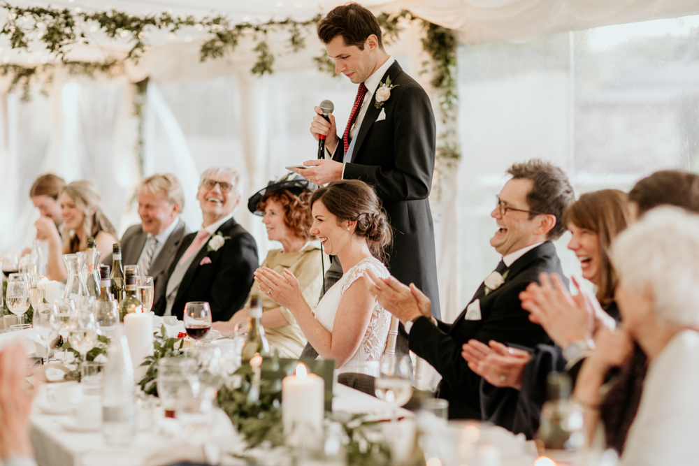 groom speech for his marquee Poulton wedding
