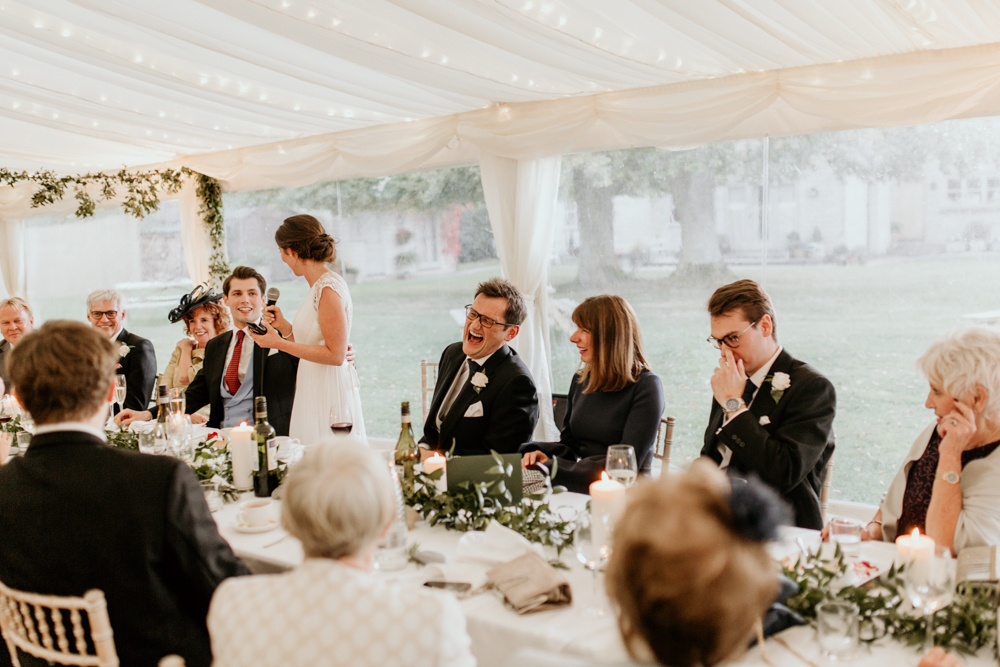 bridal speeches for a marquee Poulton wedding
