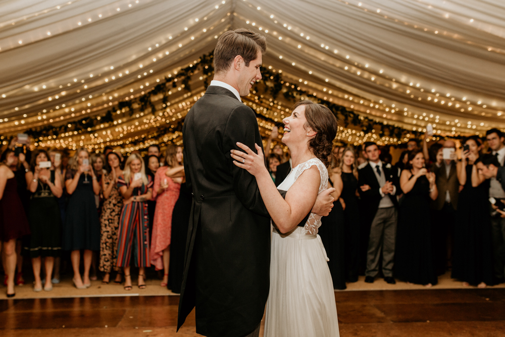 first dance for a marquee Poulton wedding