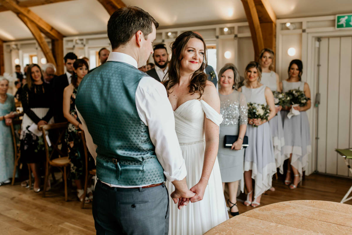 wedding ceremony at the Grange at hyde house