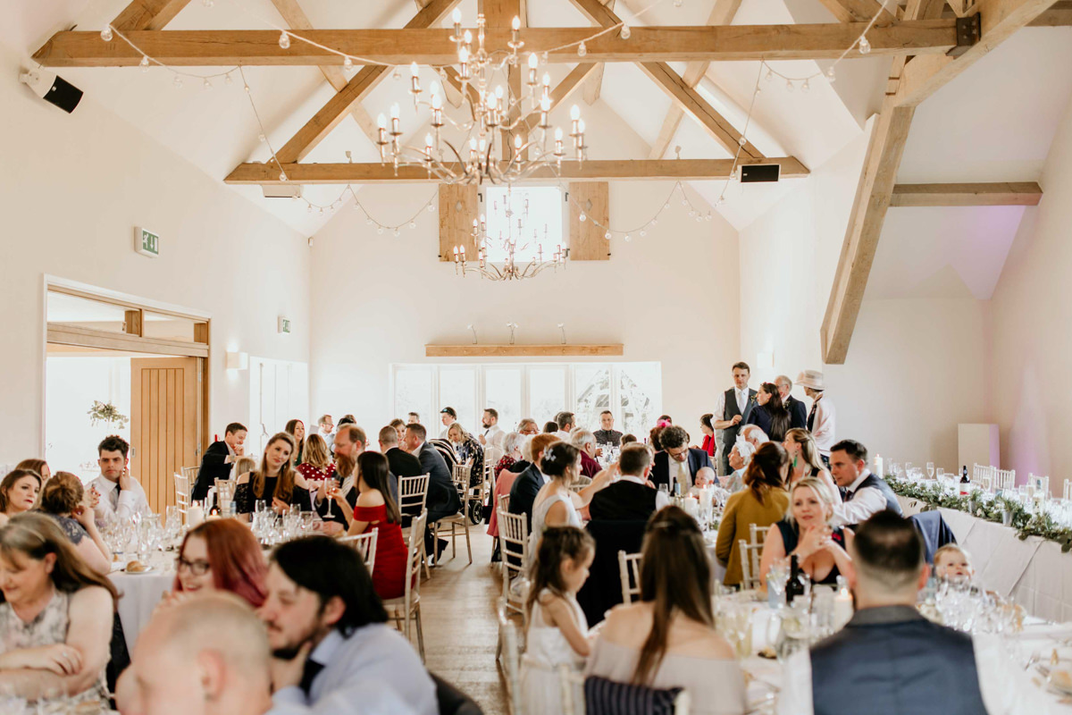 wedding reception at hyde house wedding venue cotswolds
