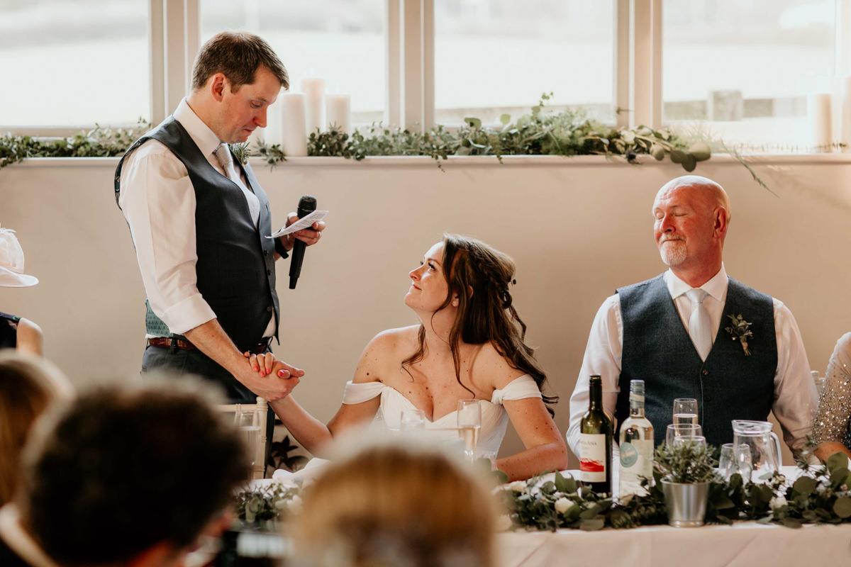 groom speech at hyde house wedding venue