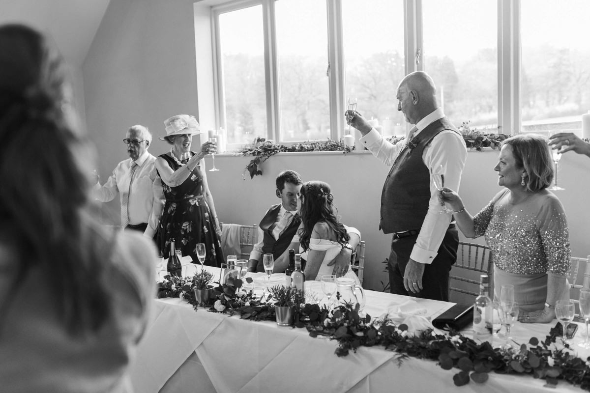 wedding toast during speeches at hyde house wedding venue