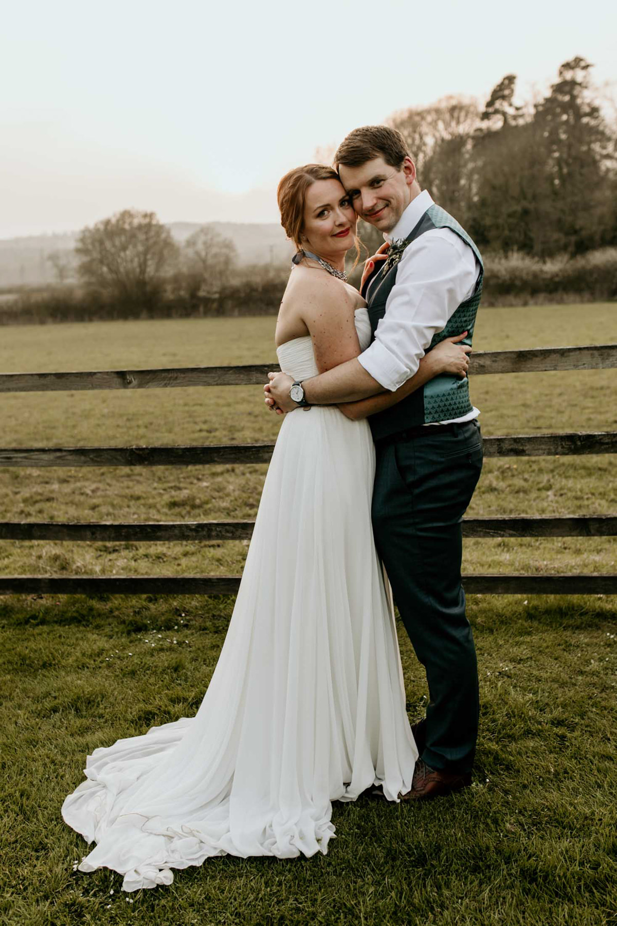 bride and groom portraits at hyde house wedding venue