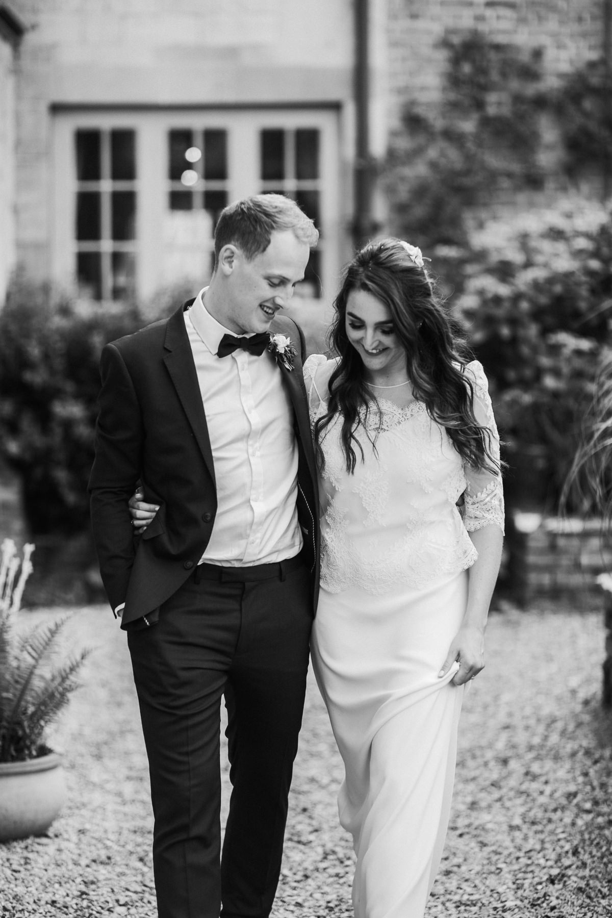 black and white portraits at Priors Court Barn wedding by Gloucester wedding photographer
