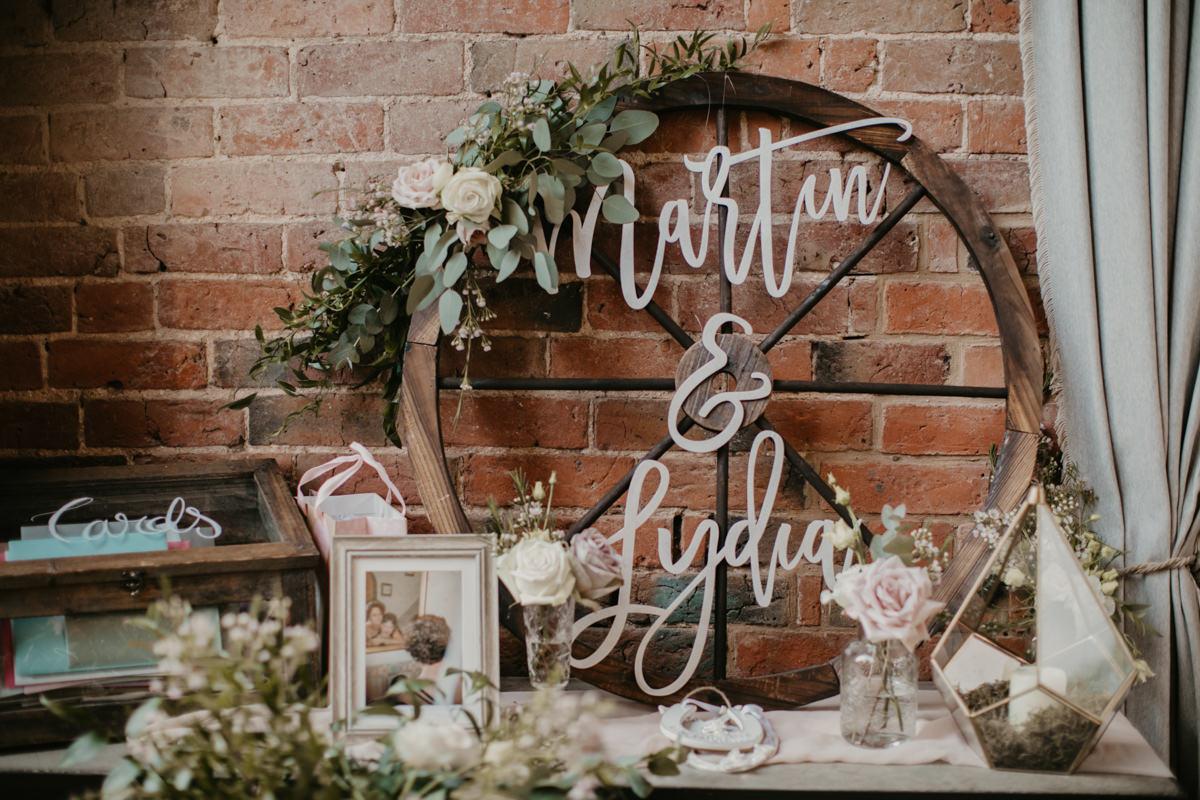 wedding decor at Shustoke Barn wedding venue
