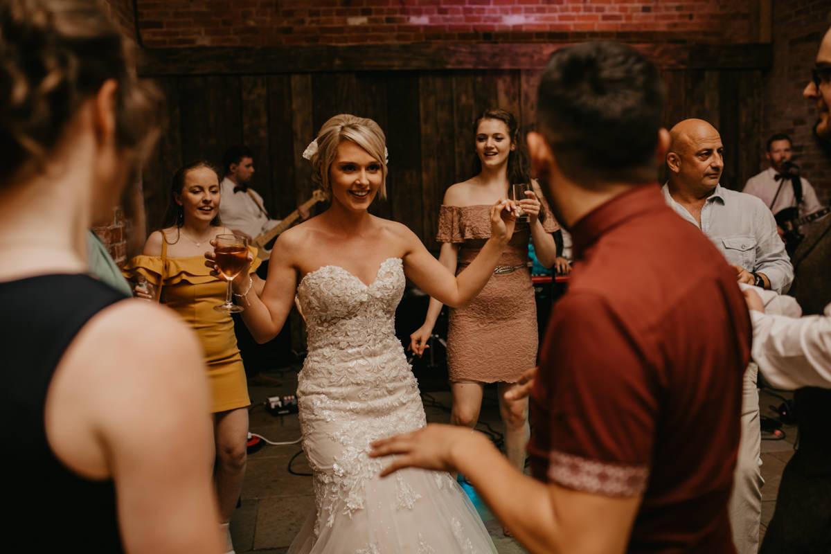 wedding reception at Shustoke Barn wedding venue