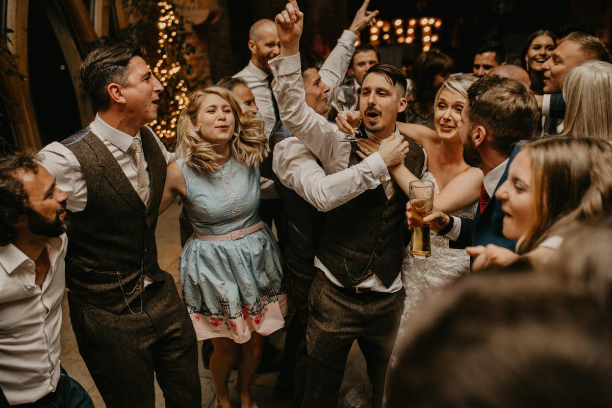 reception at Shustoke Barn wedding venue