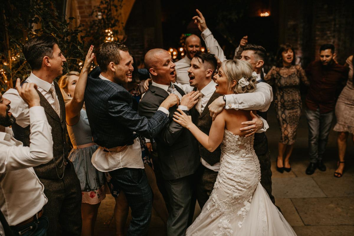 wedding reception at Shustoke Barn wedding