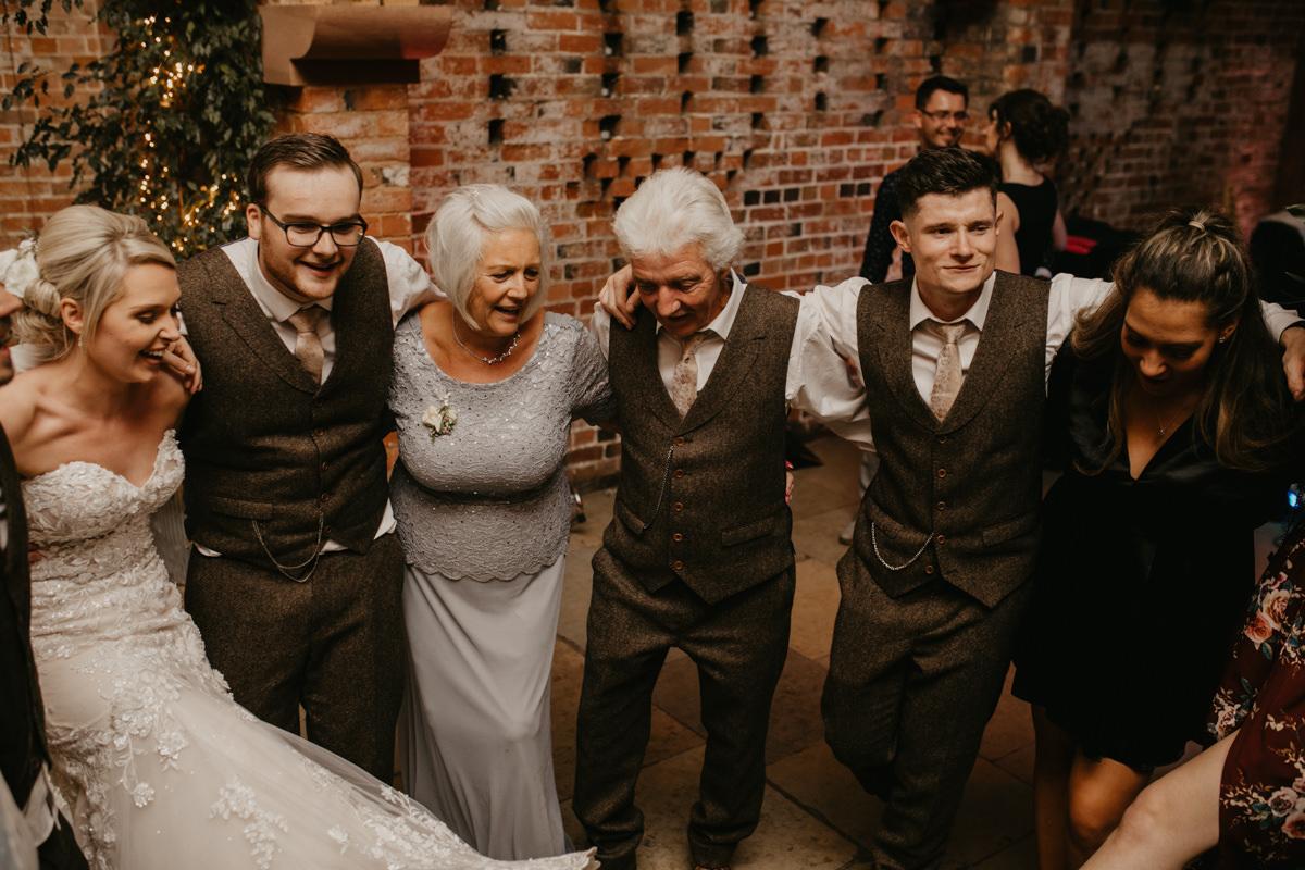 wedding reception for a Shustoke Barn wedding