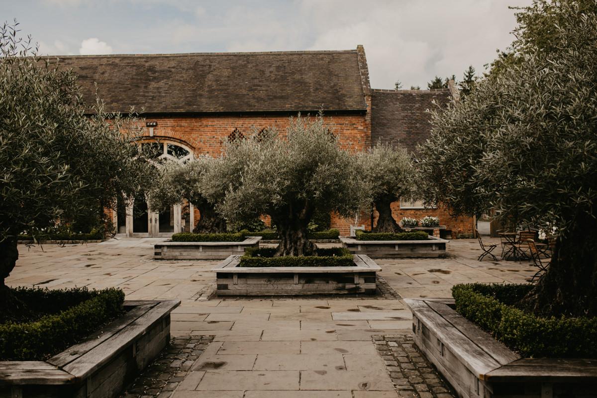 private garden at Shustoke Barn wedding venue