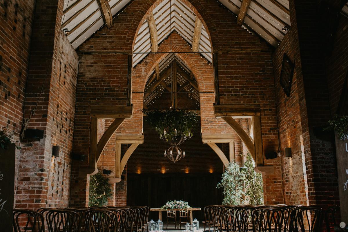 inside Shustoke Barn wedding venue