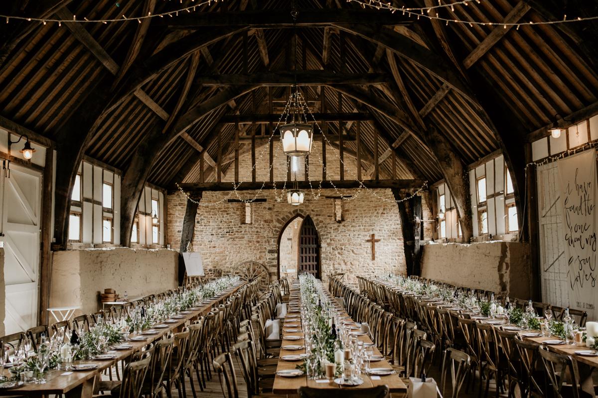 inside gloucestershire priors court barn wedding venue