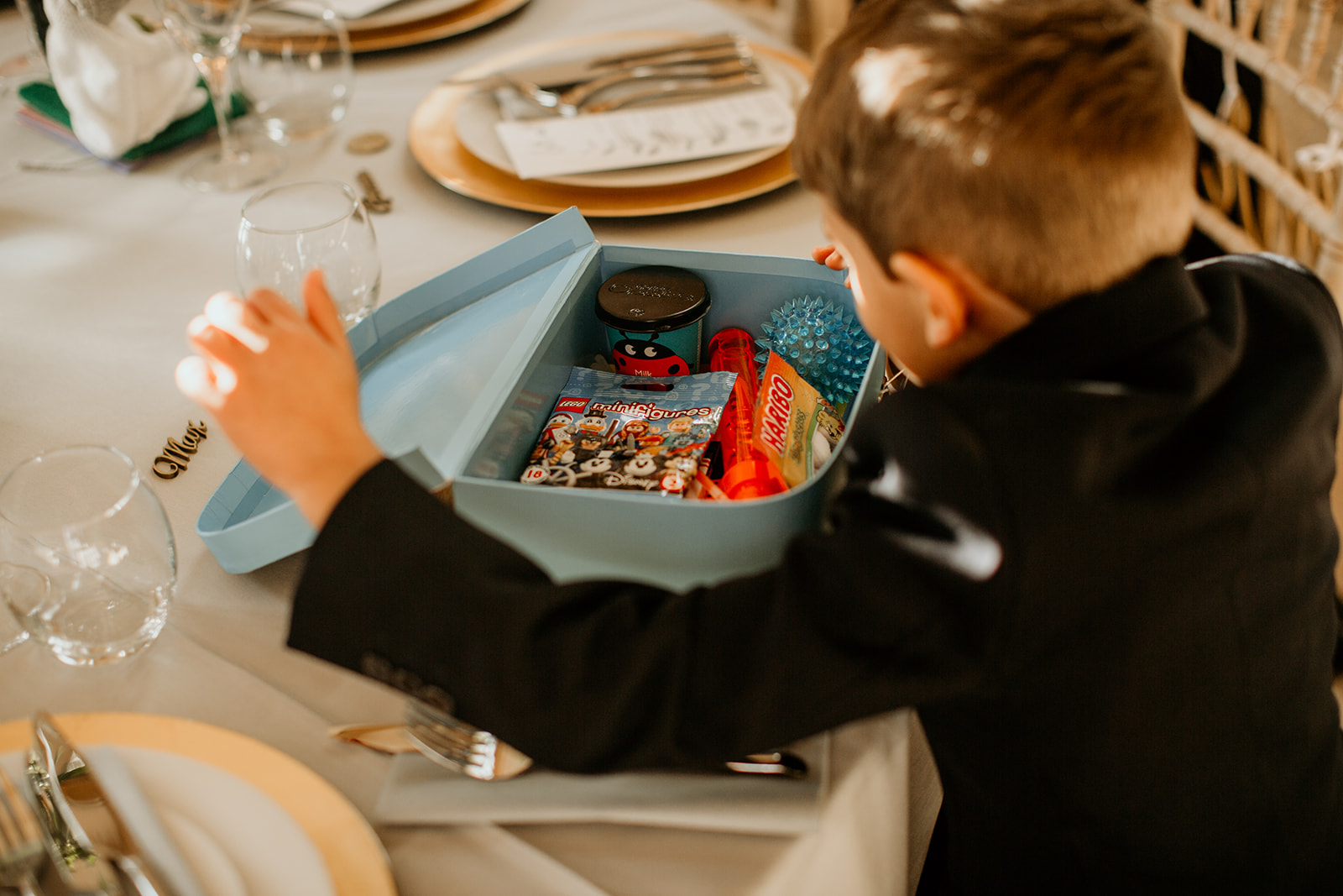 kids activity box full of fun items for the children wedding favors