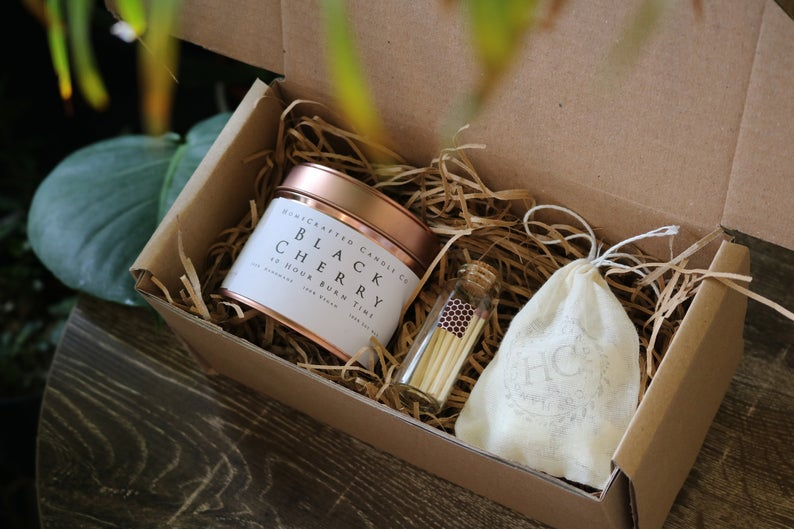 soy wax candle gift box
